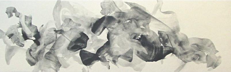 semitone (b)   graphite,  nikawa  on Japanese paper ( Torinoko-shi)  2003