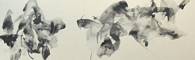 semitone (c)   graphite,  nikawa  on Japanese paper ( Torinoko-shi)  2003
