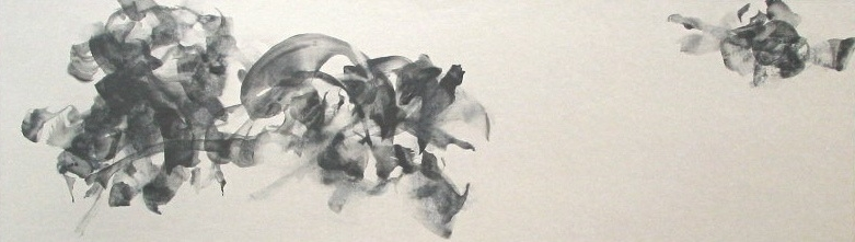 digraph Ⅰ   graphite, acrylic medium on Japanese paper ( Kumohada-mashi )  2004