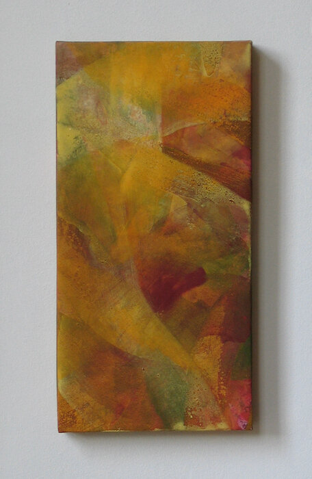 Oct Ⅲ   mineral pigment, Japanese paper, wood panel  2003