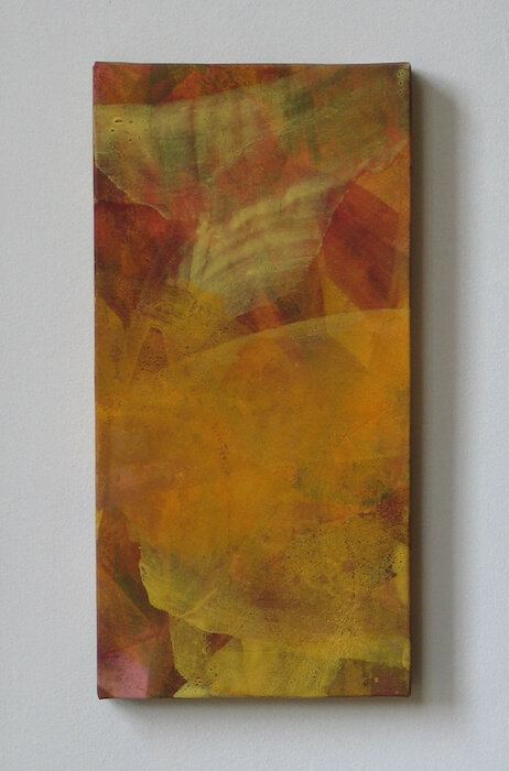 Oct Ⅳ   mineral pigment, Japanese paper, wood panel   2003