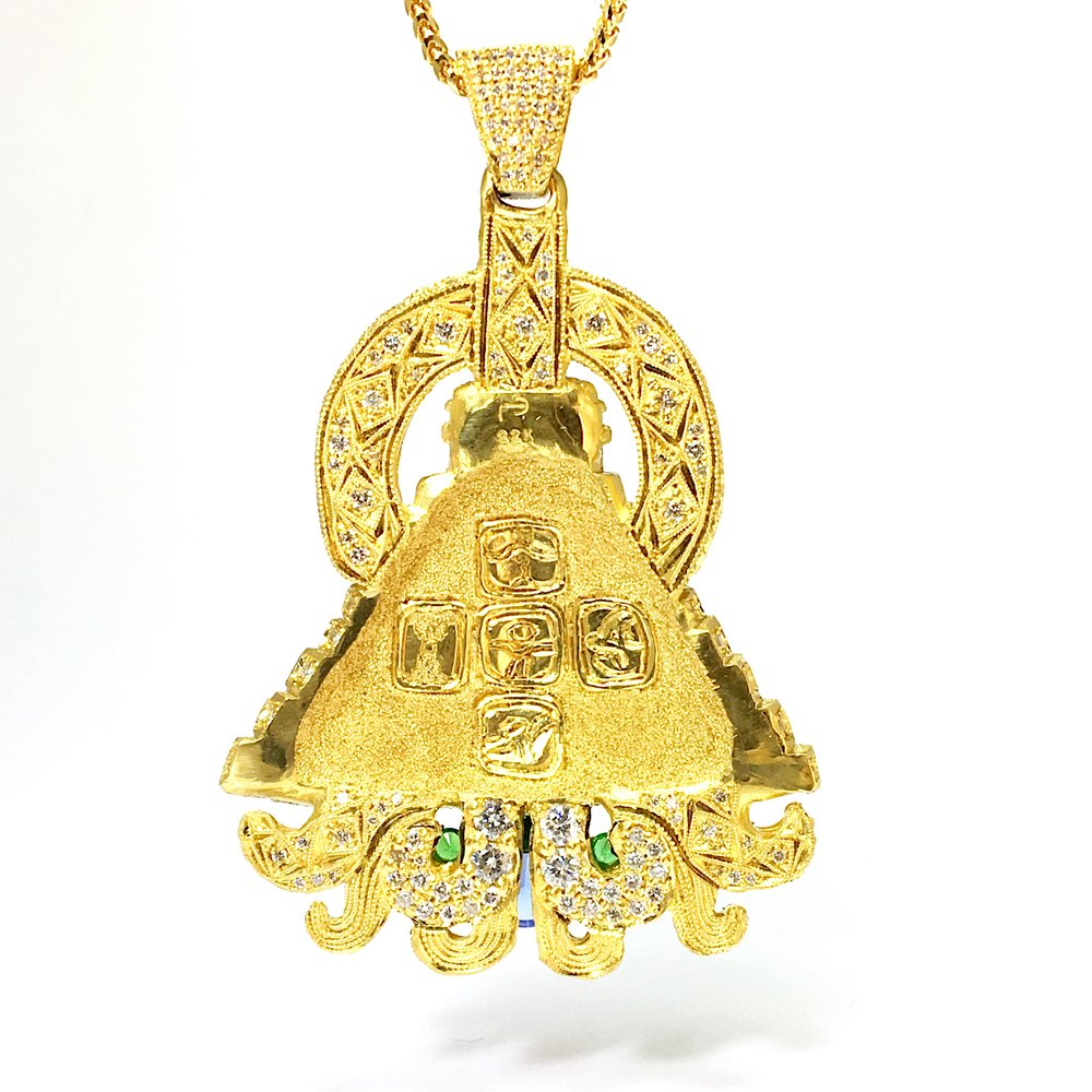 Pyramid Pendant (back view)