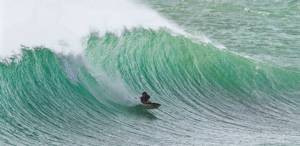 Ben Player turning into a classic Martha's drainer. Photo: Mat Tildesly