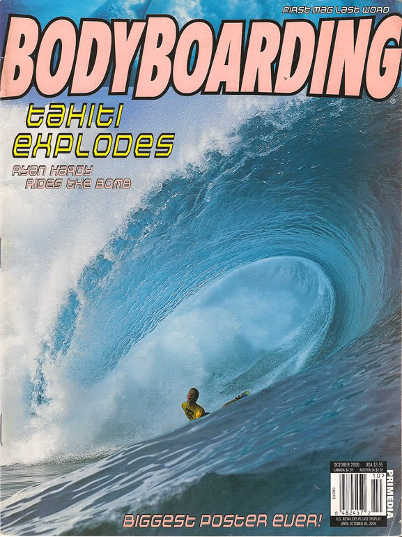 The cherry on top - Hardy scored the cover of the October issue of Bodyboarding Mag!