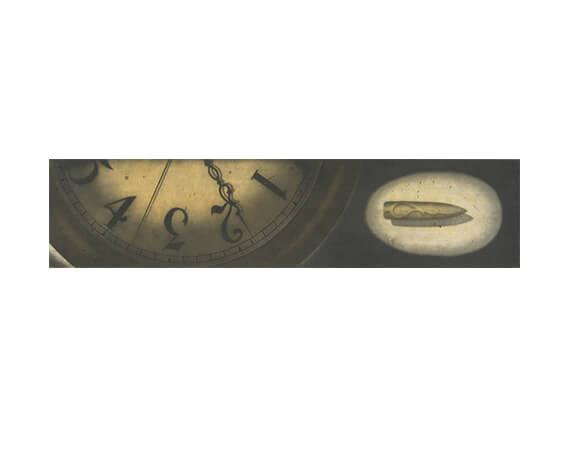 "AUTUMN LEAVES, aquatint/etching, 6 x 24"""
