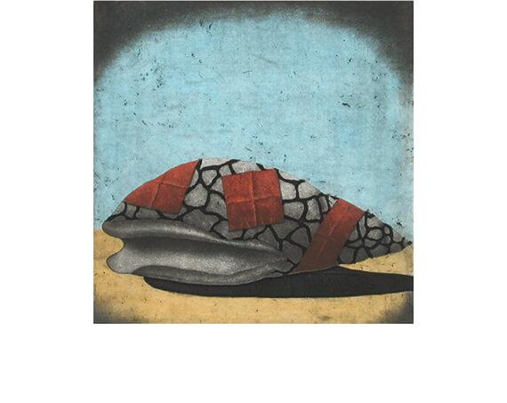 "SANCTUARY, aquatint/etching, 12 x 12"""