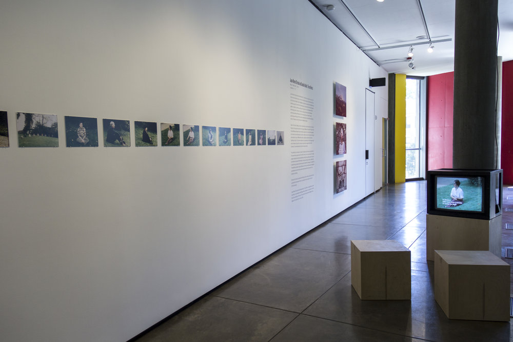 Installation view,  Jean-Marie Straub and Danièle Huillet: Three Works  (CRC/bookshop)