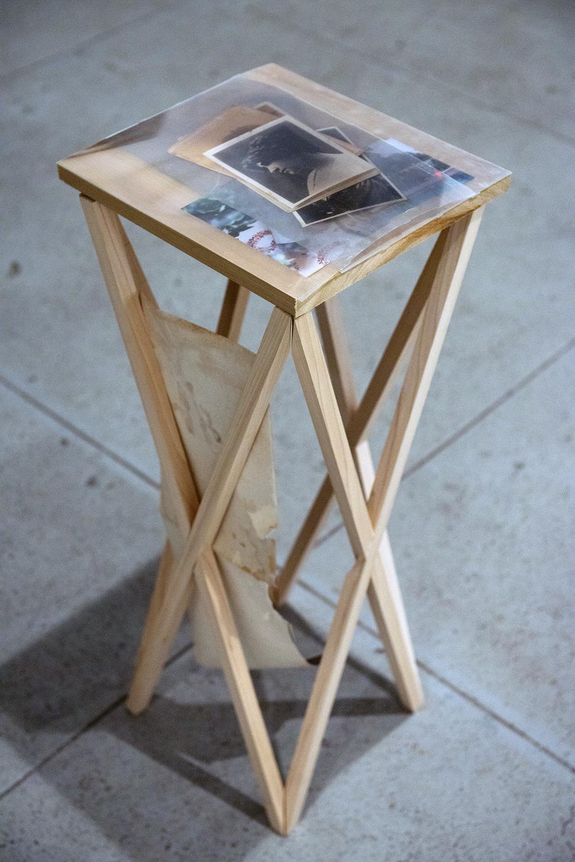 Josh Tonsfeldt,  Marian , 2013; mixed media, installation view; courtesy of the artist and Simon Preston Gallery, New York