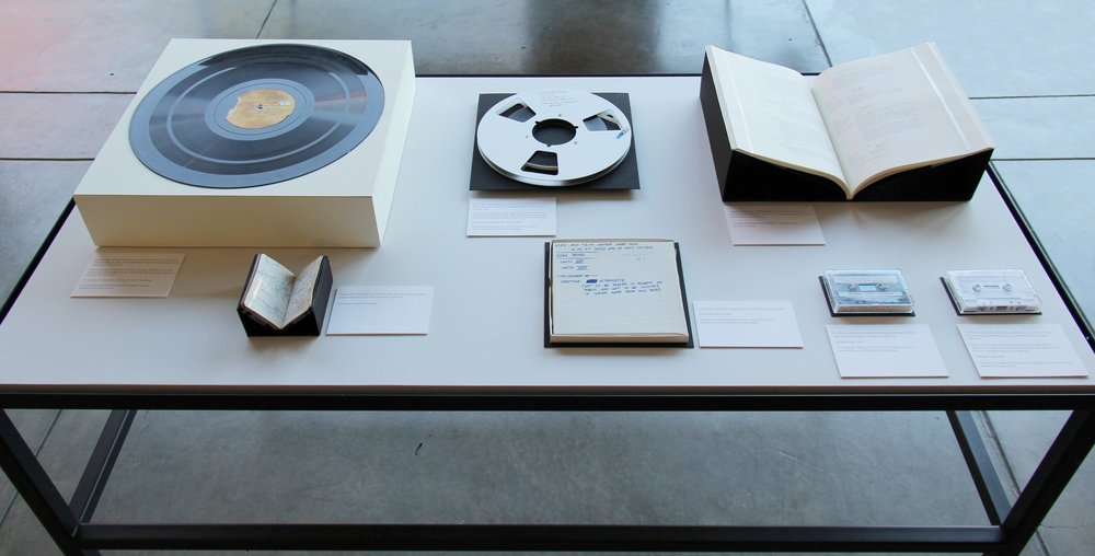 Damon Krukowski: NOT TO BE PLAYED  is a multifaceted exhibition featuring archival materials, performance, and a publication that together revive an obscure audio recording made by Ezra Pound at Harvard University in 1939. October 8–23, 2015.