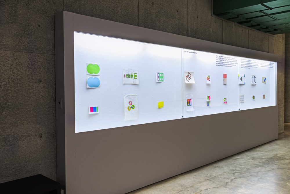 Installation view: Karel Martens: Monoprints  (2015).