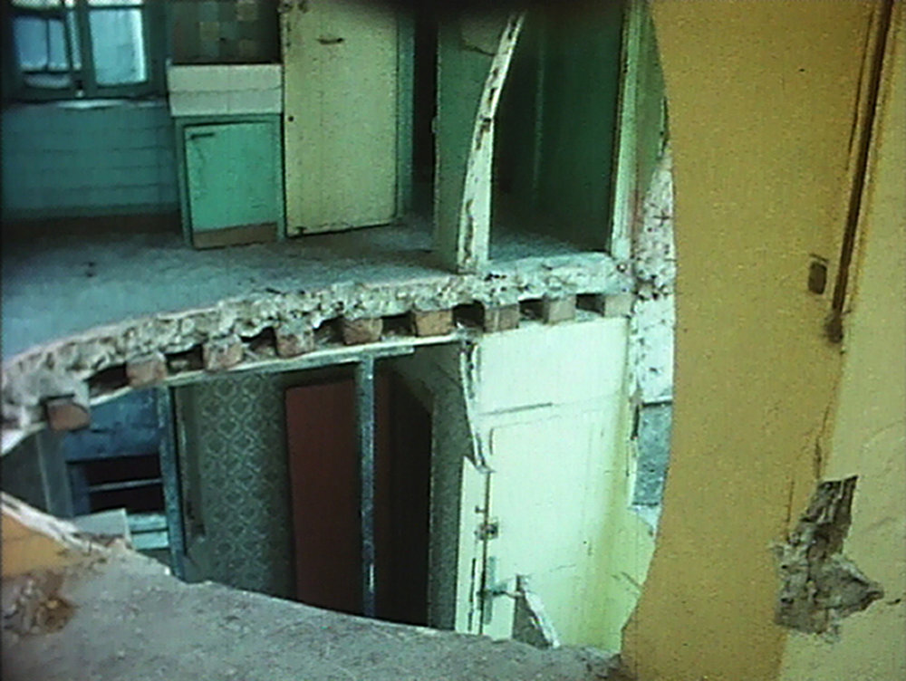 Gordon Matta-Clark,  Conical Intersect , 1975. 16 mm film on video, color, without sound, 18:40 minutes. Courtesy of Electronic Arts Intermix (EAI), New York.