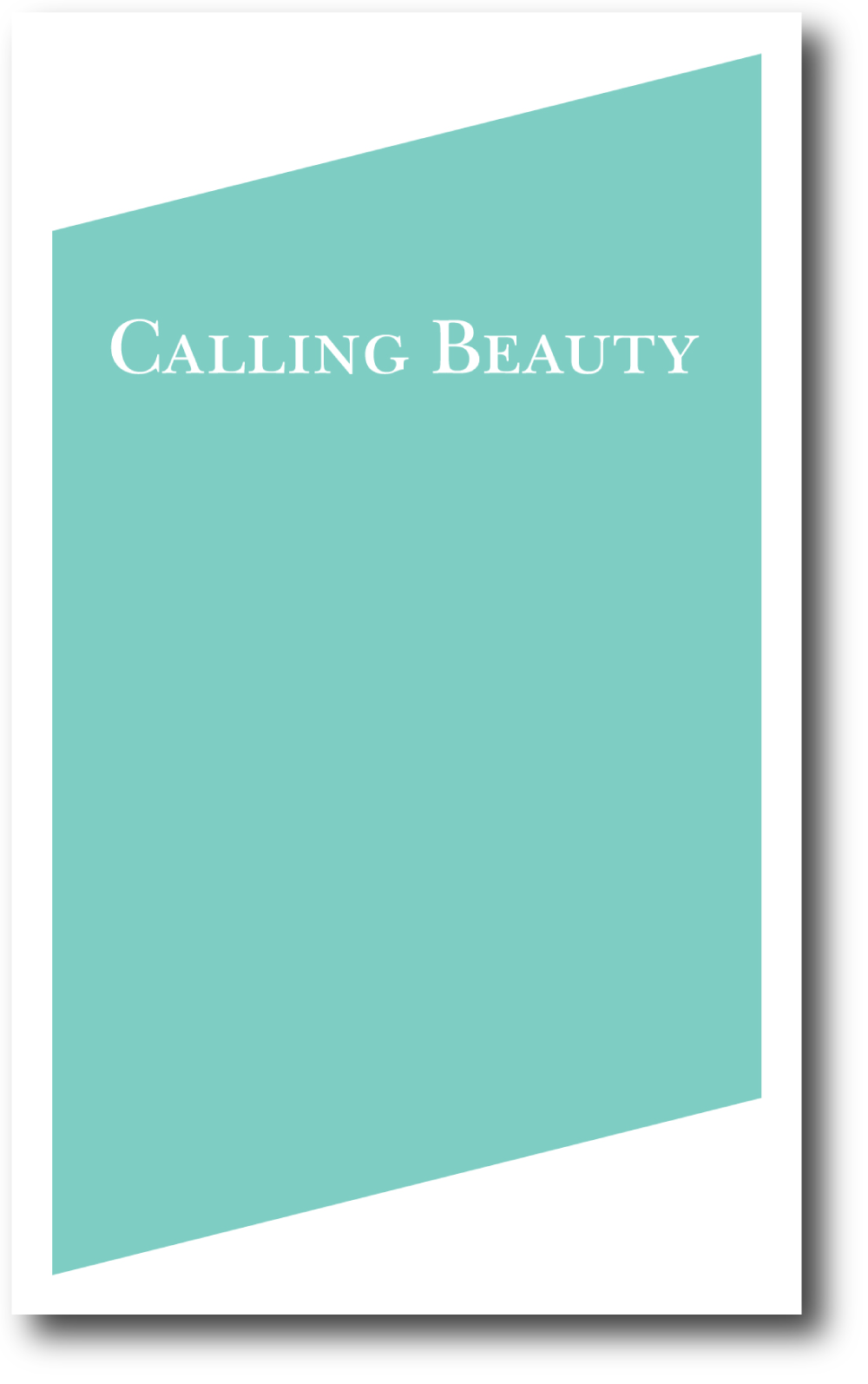Calling Beauty , published by Bureau for Open Culture, 2010; designed by Nate Padavick, 96 pages; 8.25 x 5 inches