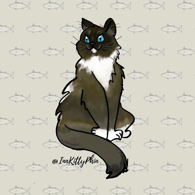 "Big Thanks to the talented artist ""MaplePancakes"" for our beautiful new character art for Phin!  Absolutely love it :D and will be using for a long time coming ⠀ 😍😘😻⠀ ⠀ You can checkout her artwork @ fiverr.com/users/maplepancakes ⠀ She does amazing character artwork and emotes/emojis!⠀ ⠀ @cohoinnvermont #samzdesigns #innkitty #innkittyphin #newart #characterart #emote #emoji #cutecat #catart"