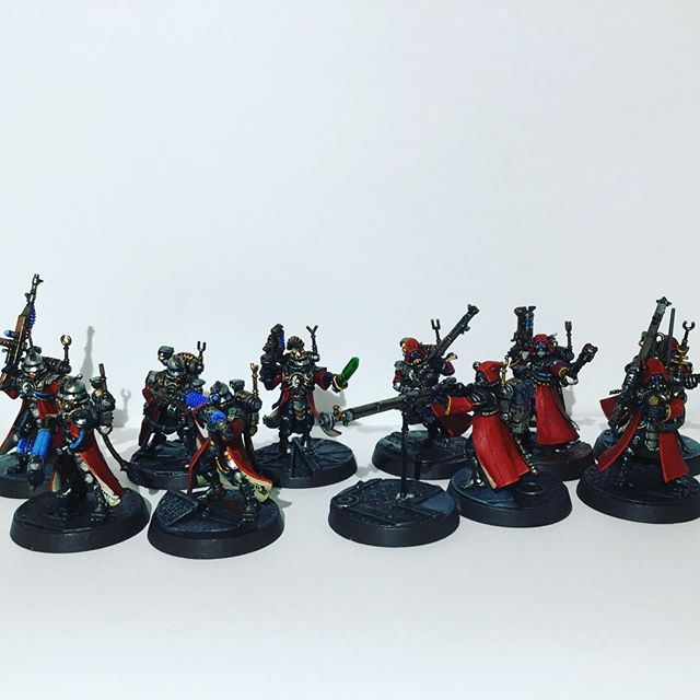Finished my primary #killteam members. Need to complement with a sicarian or two. #admech #adeptusmechanicus #warhammer40k #warhammer #gamesworkshop #techpriest #skitarii #skitarius