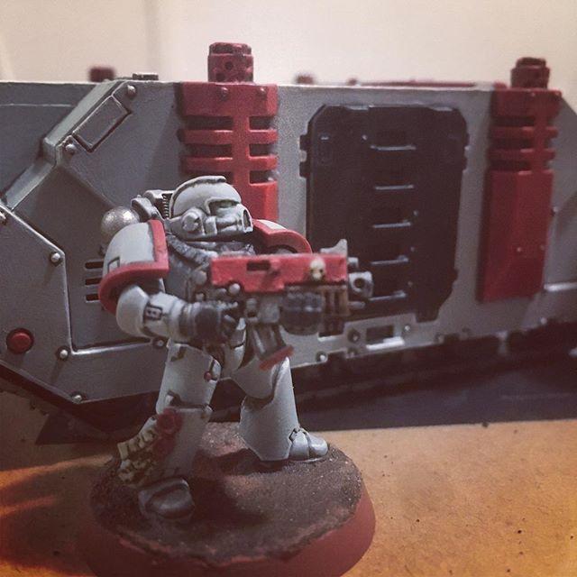Working on a sweet ride for my boys in gray. #warhammer40k #adeptusastartes #astartes #spacemarines #warhammer #sulliedhands