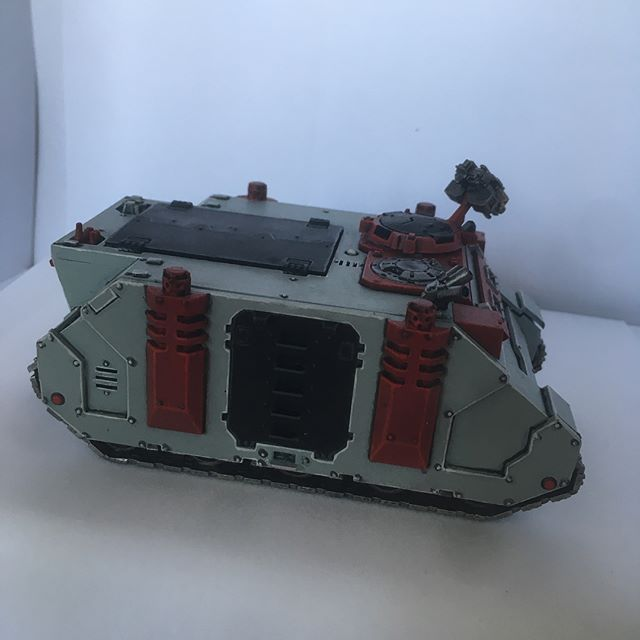 It was a poorly constructed Rhino that I built like six years ago, but now it has paint at least. #adeptusastartes #spacemarine #spacemarines #warhammer40k #rhino #sulliedhands