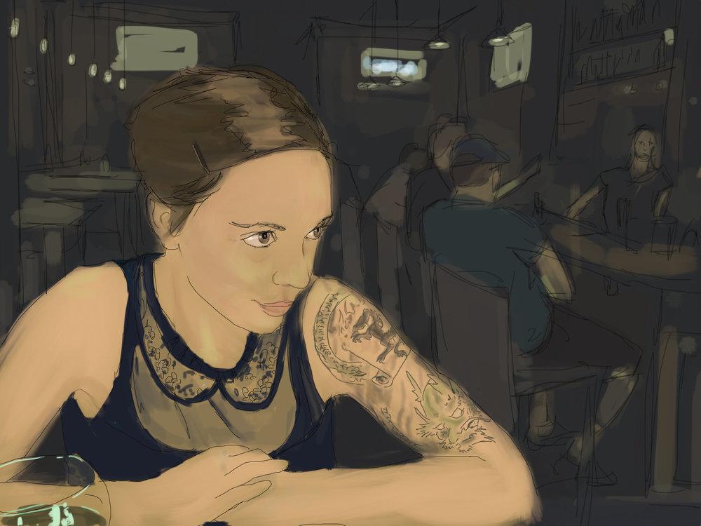 Melissa NYC - digital painting created on iPad