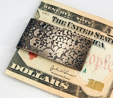 Money clip by Jessica Todd.