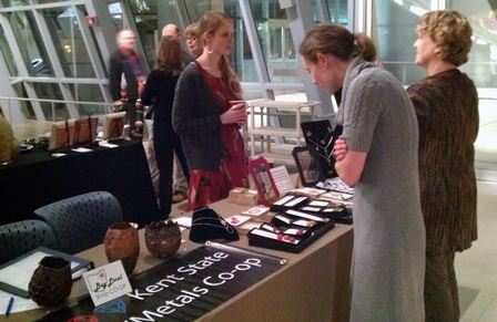 KSU Jewelry/Metals Co-op booth at the Akron Art Museum Holiday mART sale, December 2012.
