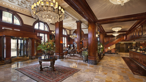 The grand entrance - for some - of the Benson Hotel in Portland, Oregon, where the 2016 AAC conference was held.