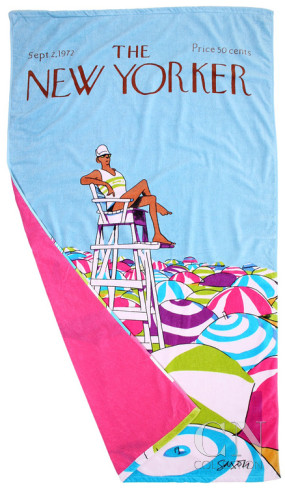 charles-saxon-the-new-yorker-on-duty-beach-towel