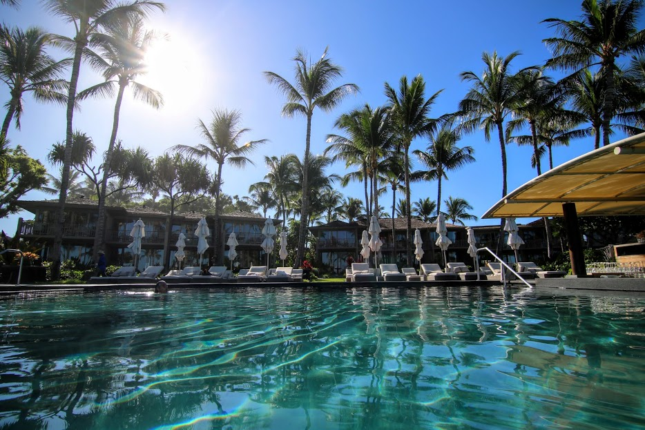 Four Seasons Hualalai Palm Grove Pool Kohala Coast