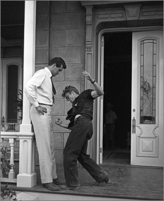 James Dean and Rock Hudson