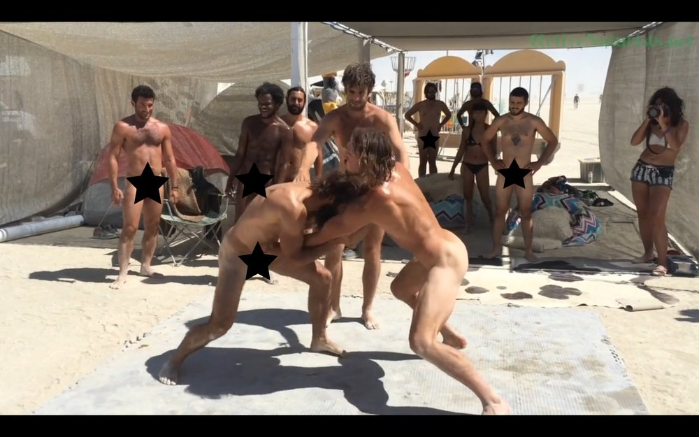 Male nude wrestling video
