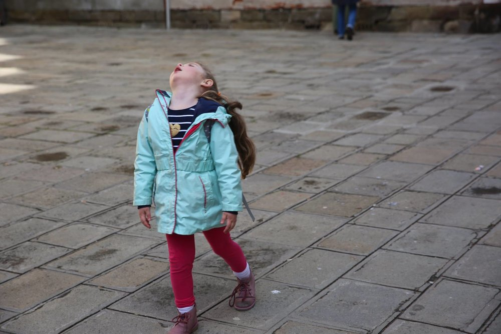 """""""All we are doing is walking...."""" the dramatics of a 4 year old. Two minutes later she had gelato and all was right in the world again."""
