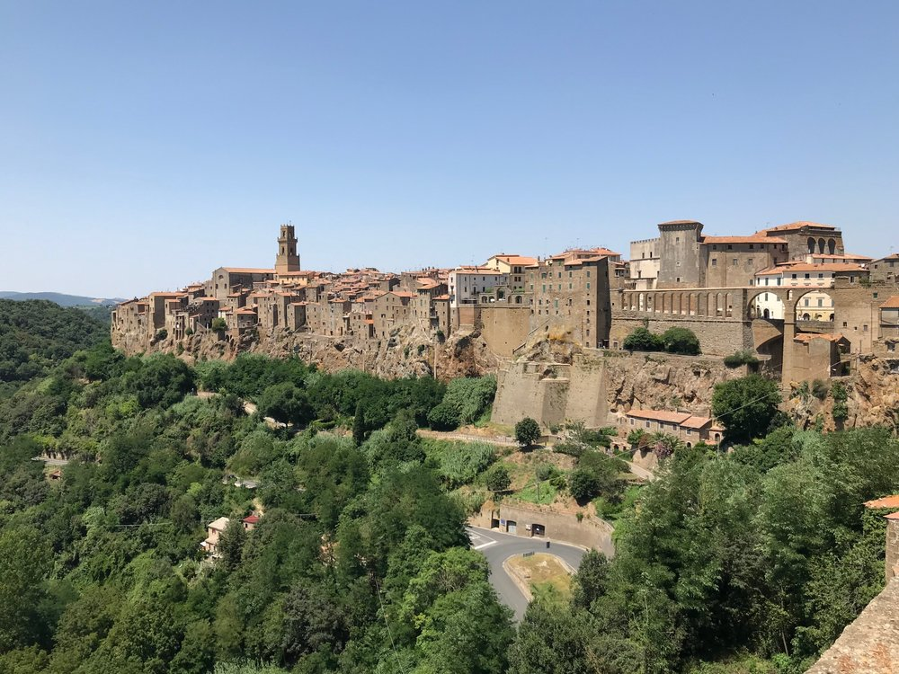 I really did take this photo of Pitigliano! My girls were sitting behind me on a bench, somewhat oblivious to how amazing this city is.