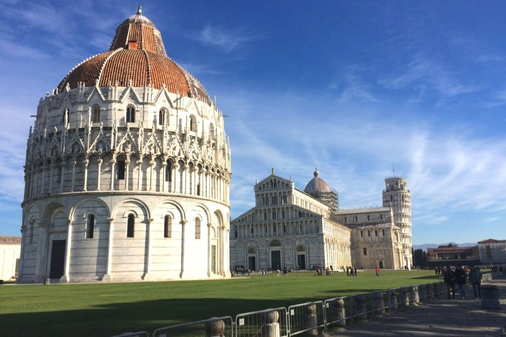 My very first time seeing the Square of Miracles (aka: The Leaning Tower of Pisa!) back in January of 2017
