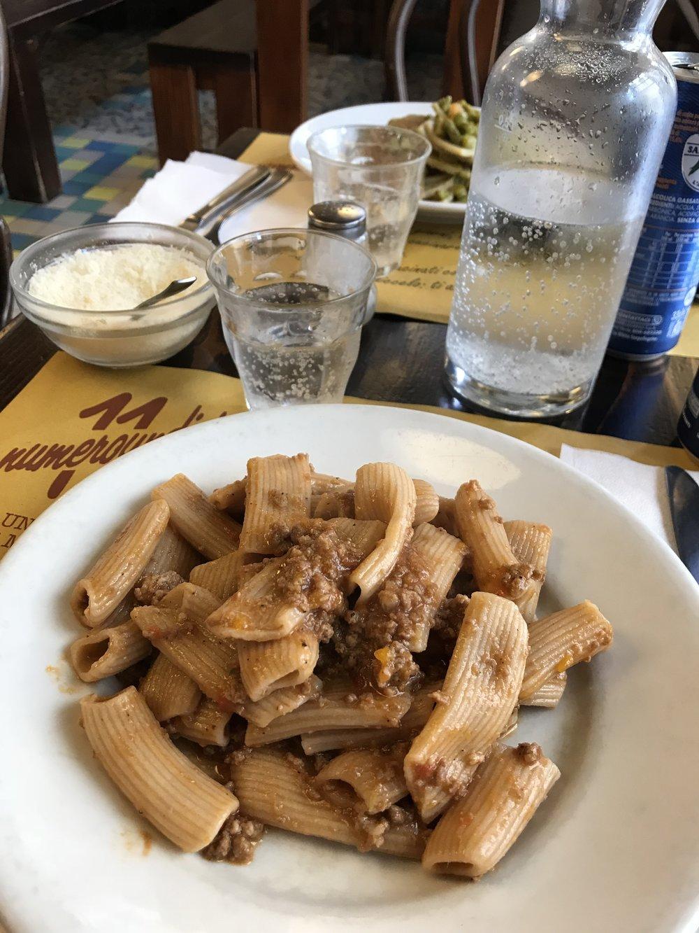Fresh pasta ragu at Numeroundici in Pisa