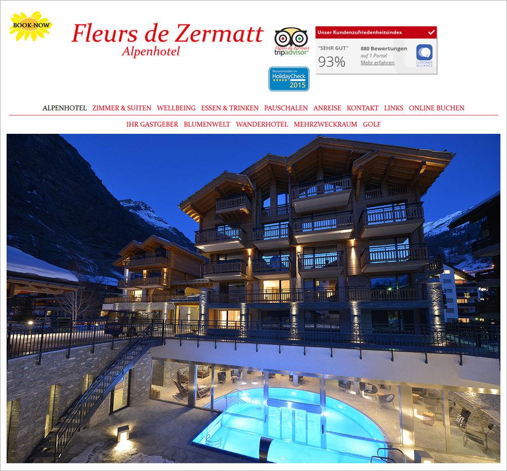 Fleurs de Zermatt - Hotel-, Zimmer- und Wellnessfotos von www.FotoGigant.ch