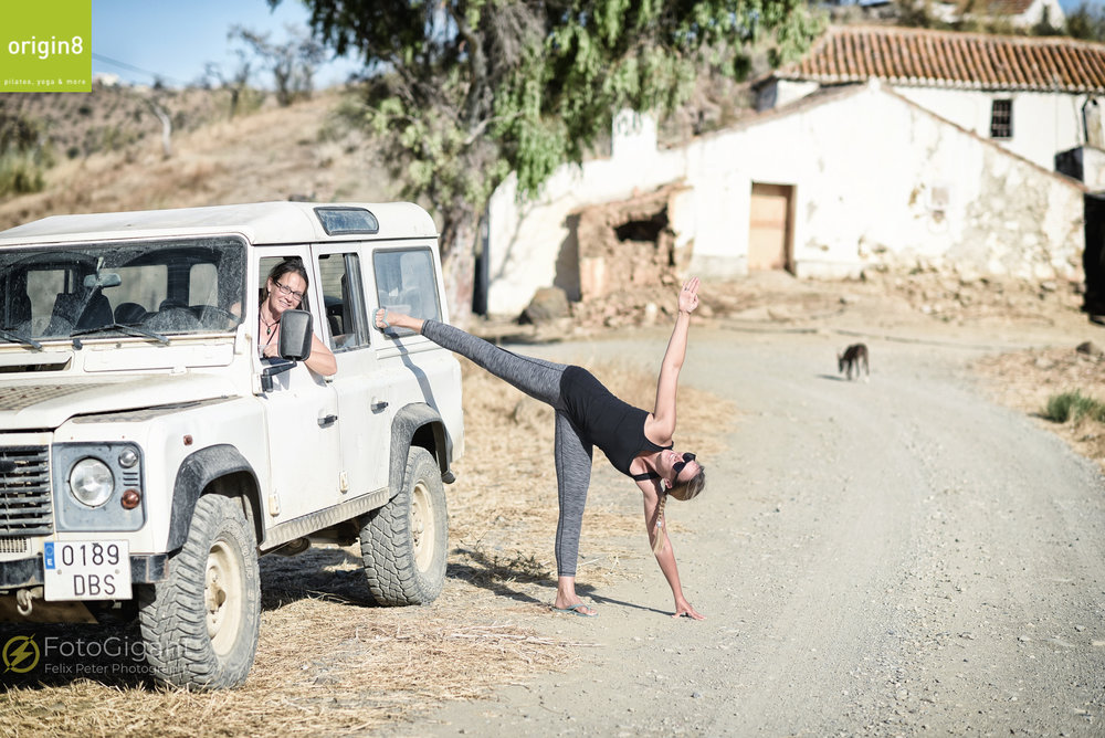 Yoga... ...it can be done anywhere :-) - MALAGA YOGA RETREAT'sof www.Origin8.ch