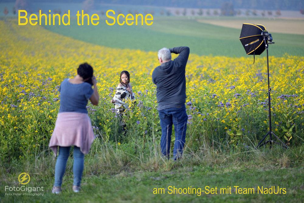 Hinter den Kulissen… - …sah das so aus an unserem Shooting.Der Blitz war nicht immer notwendig; es ist aber nie falsch einen dabei zu haben :-)