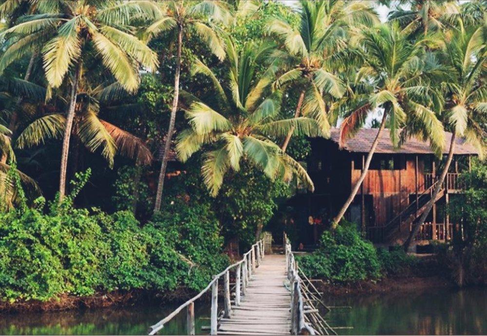 Bron över floden till Ashiyana