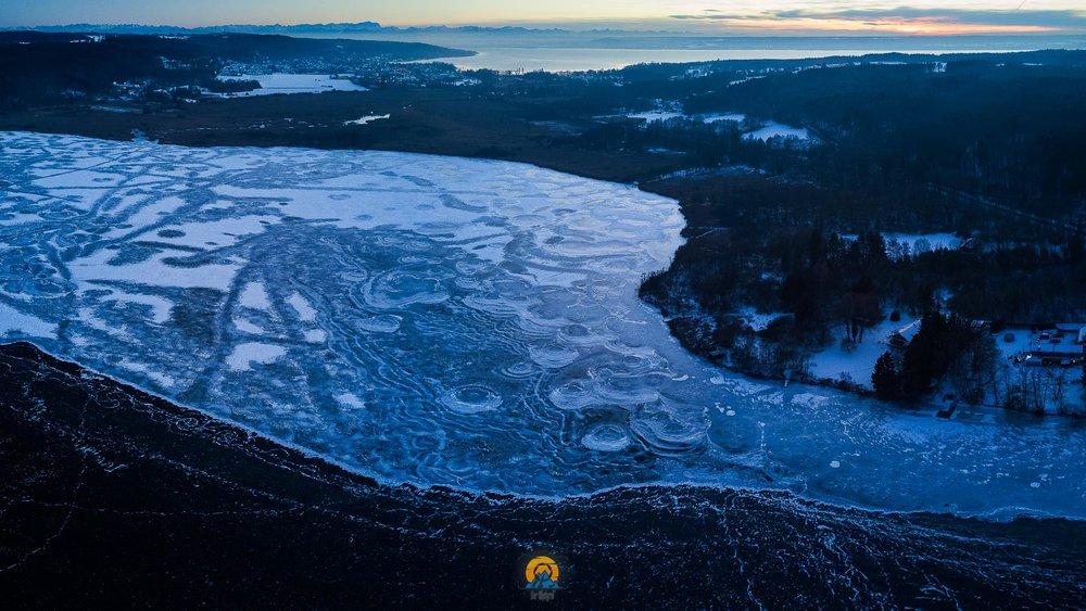 Gefrorenes Fünf-Seen-Land