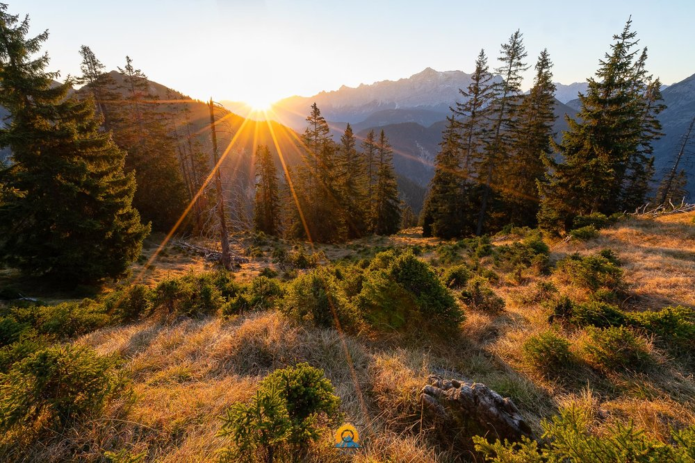 Zugspitze im Herbstlicht