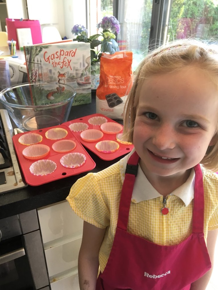 Rebecca Harvey gets ready to cook her Gaspard cupcakes - are you ready to follow her recipe?