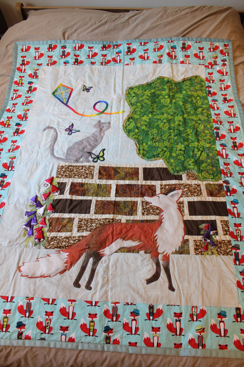 Gaspard the Fox Quilt by Beth Boast