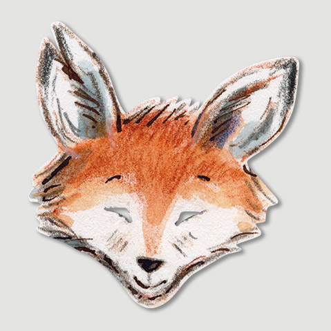 GASPARD MASK - Make your own Gaspard the Fox mask from the acclaimed picture book by Zeb Soanes and James Mayhew. Simply pop out the mask, tie on the elastic (supplied) and voilà