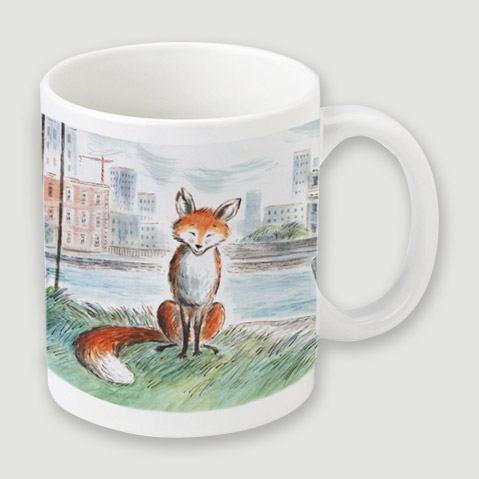 MUG - Enjoy the beautiful cover illustration from children's book Gaspard the Fox, written by Zeb Soanes and illustrated by James Mayhew, on this mug. Order early for Christmas.