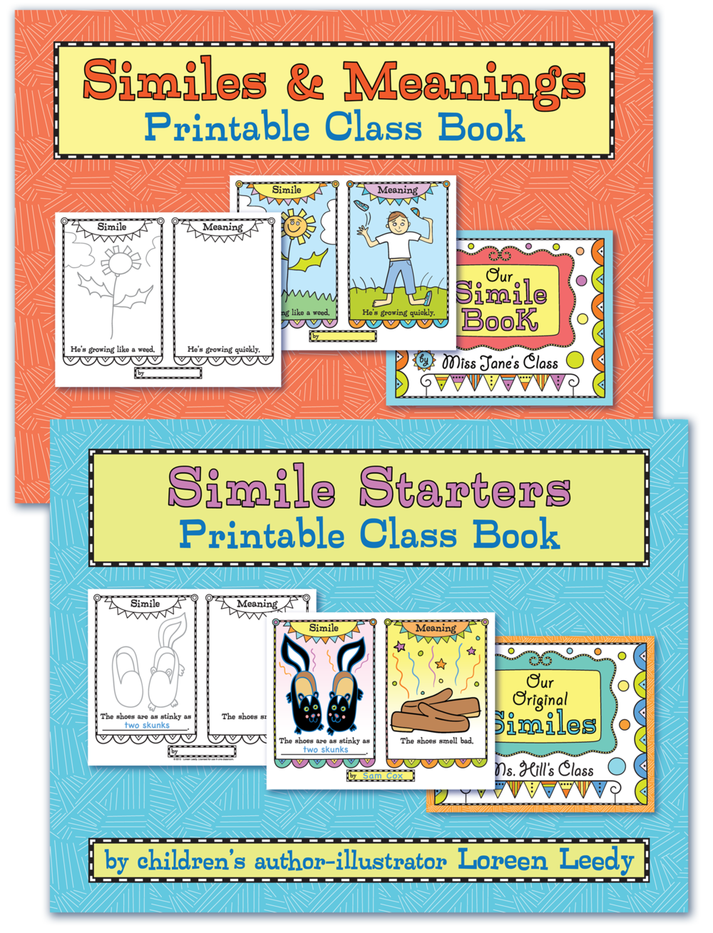 Working with similes is a part of learning about figurative language. Kids can illustrate a simile and write their own originals for a class book project.