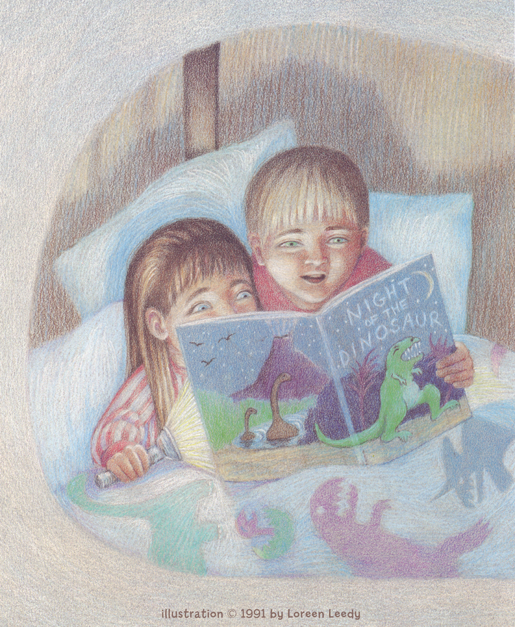 Illustration from  Waiting for Baby , written by Tom Birdseye and illustrated by Loreen Leedy