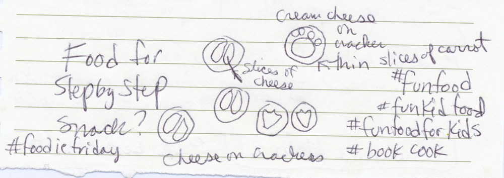 Scribbling down some #funfood ideas for snacks that look like animal tracks.