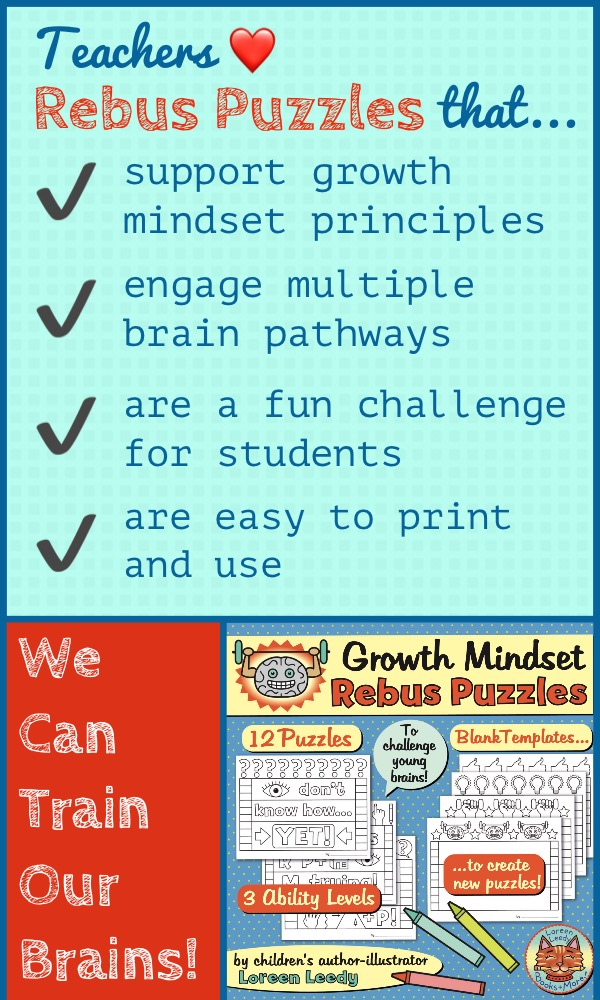 Help Students Train Their Brains With Ening Growth Mindset Rebus Puzzles