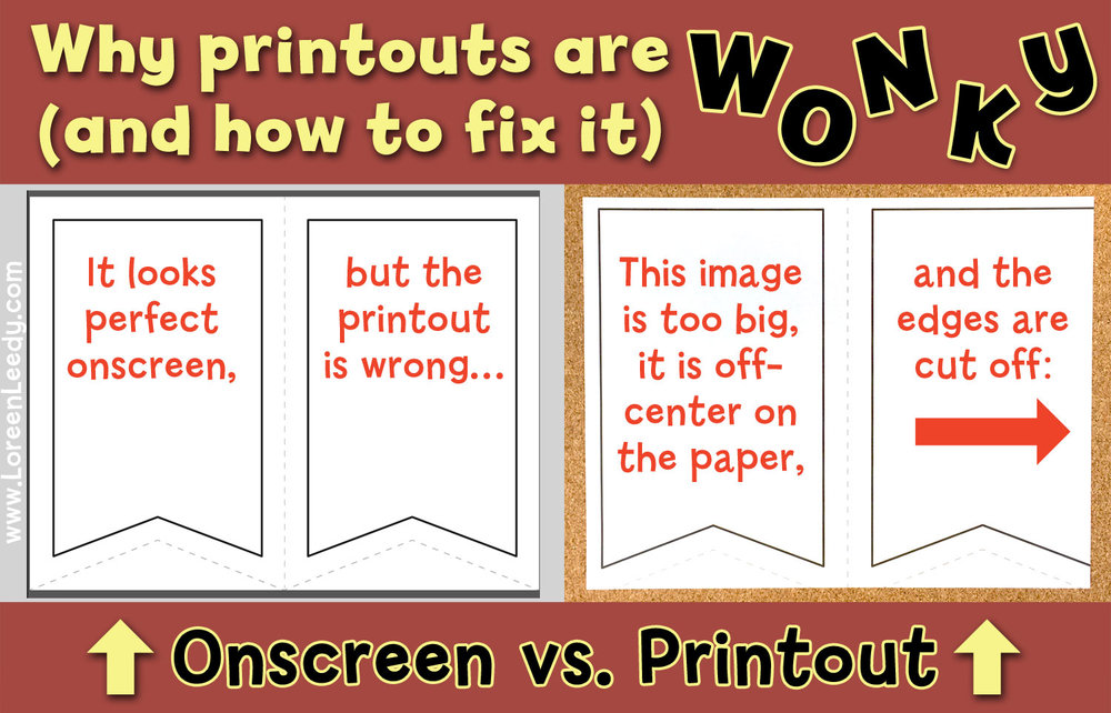 Troubleshooting a printout that is not WYSIWYG (What You See Is What You Get)