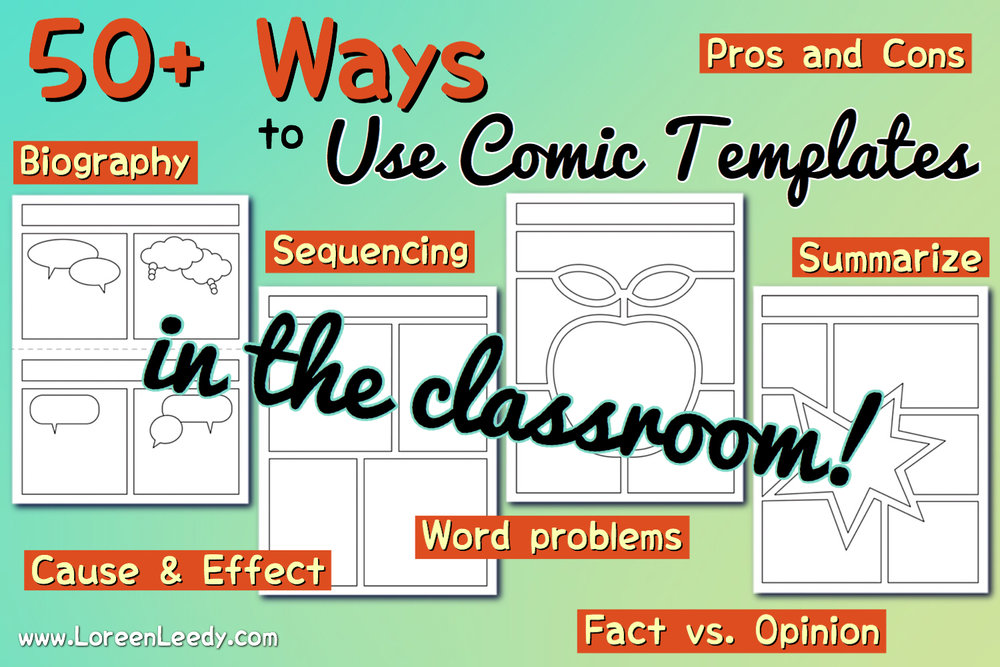 How to use comic strip templates in the classroom for any subject