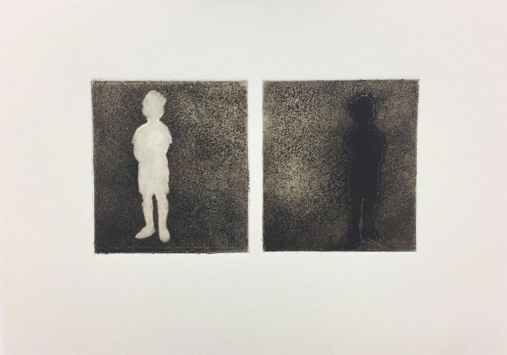 Split - Collograph