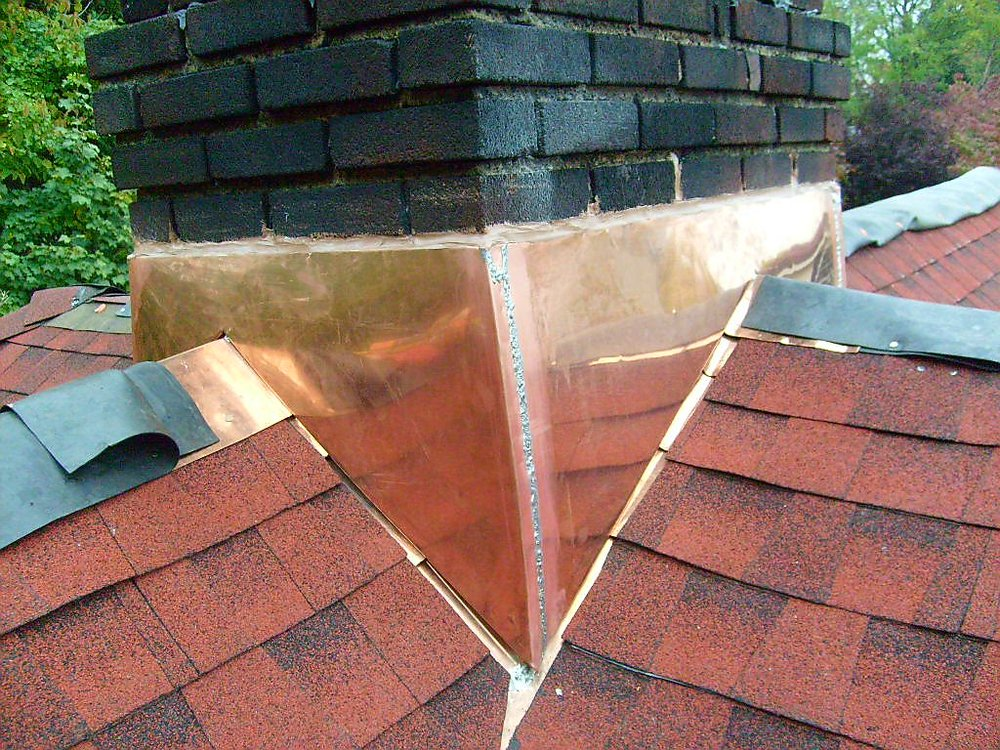Chimney Copper Flashing Installation